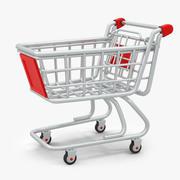 Cartoon Shopping Cart 3d model
