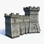 Ensemble de murs de ville 3d model
