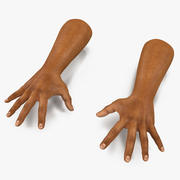 African Man Hands 2 Pose 4 3d model