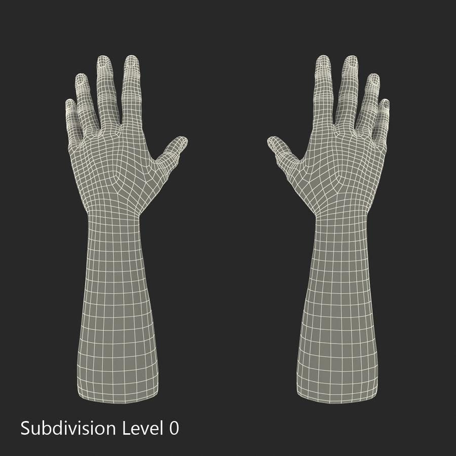 アフリカ人の手3の毛皮3Dモデル royalty-free 3d model - Preview no. 15