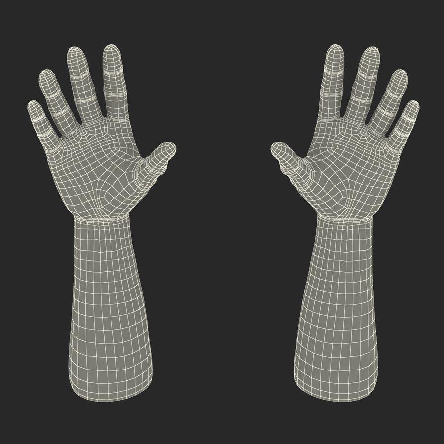 アフリカ人の手3の毛皮3Dモデル royalty-free 3d model - Preview no. 22