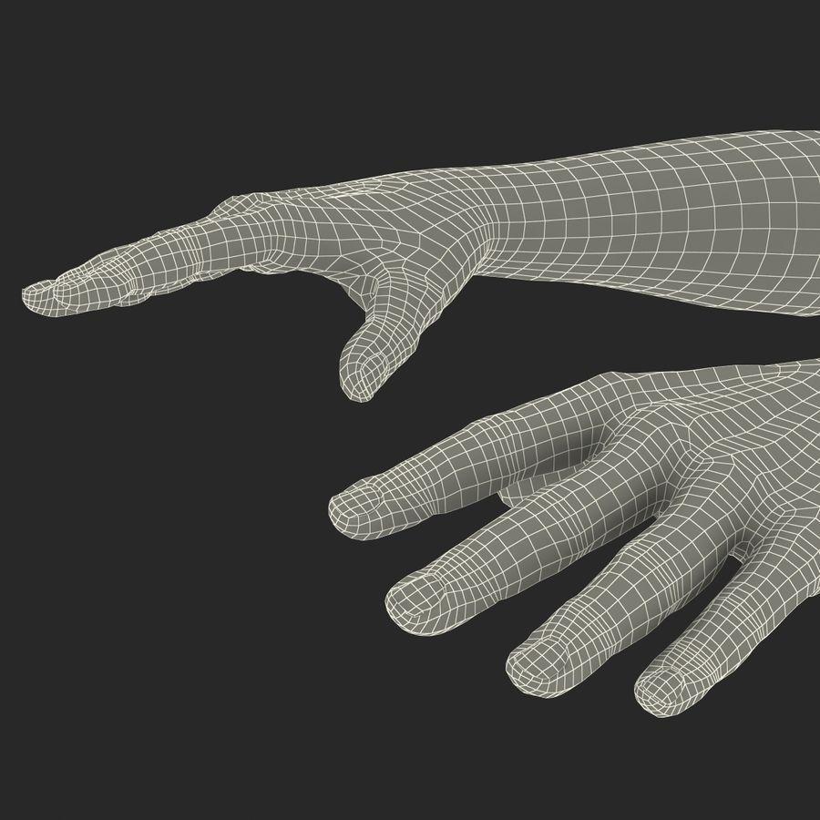 アフリカ人の手3の毛皮3Dモデル royalty-free 3d model - Preview no. 23