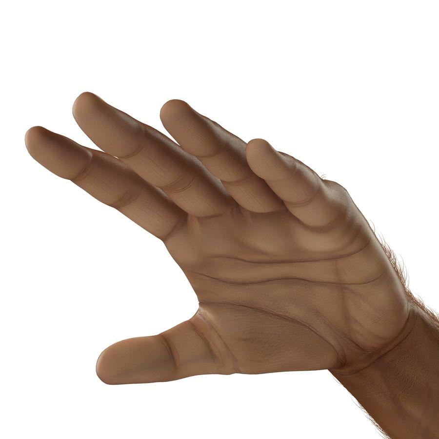 アフリカ人の手3の毛皮3Dモデル royalty-free 3d model - Preview no. 13