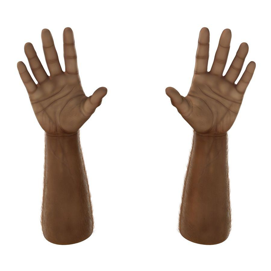 アフリカ人の手3の毛皮3Dモデル royalty-free 3d model - Preview no. 8