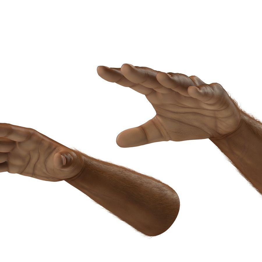 アフリカ人の手3の毛皮3Dモデル royalty-free 3d model - Preview no. 9