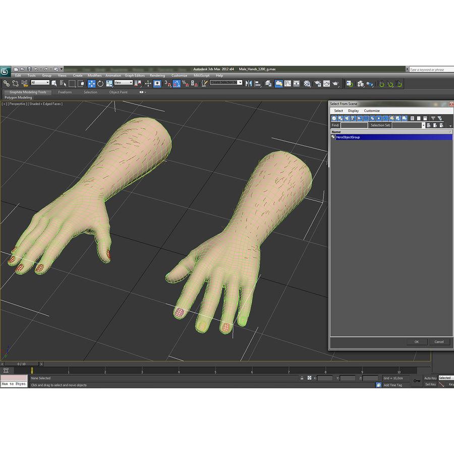 アフリカ人の手3の毛皮3Dモデル royalty-free 3d model - Preview no. 19