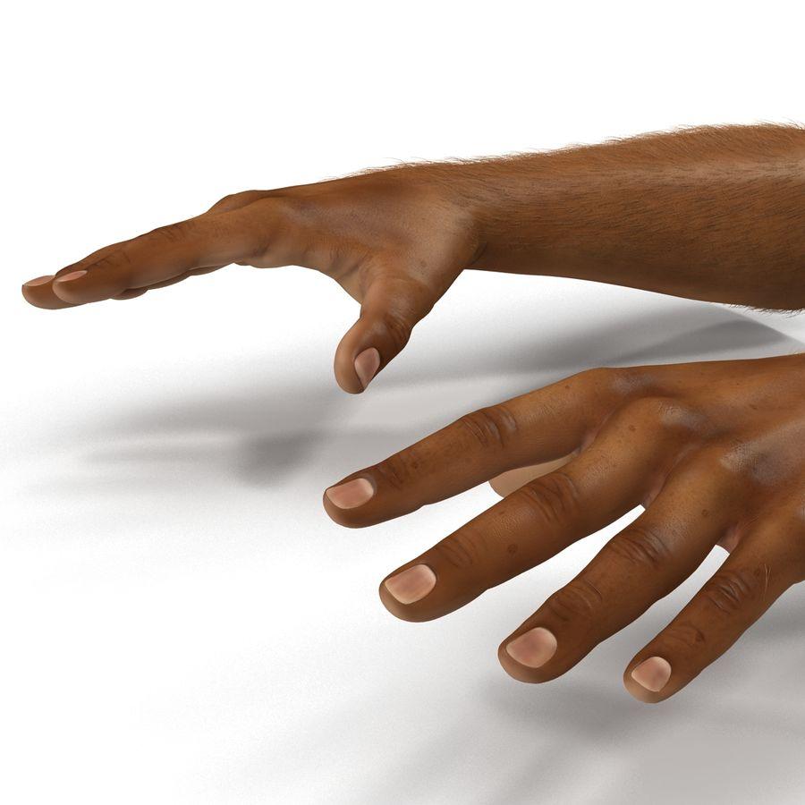 アフリカ人の手3の毛皮3Dモデル royalty-free 3d model - Preview no. 10