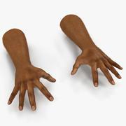 毛皮のポーズ4 3Dモデルとアフリカ人の手3 3d model