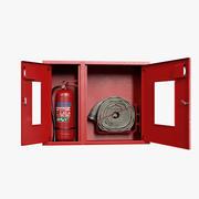 Корпус пожарного шланга с огнетушителем 3d model