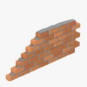 벽돌 벽 섹션 01 3d model