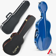 Case, Viola, Cello, Guitar, Set 3d model