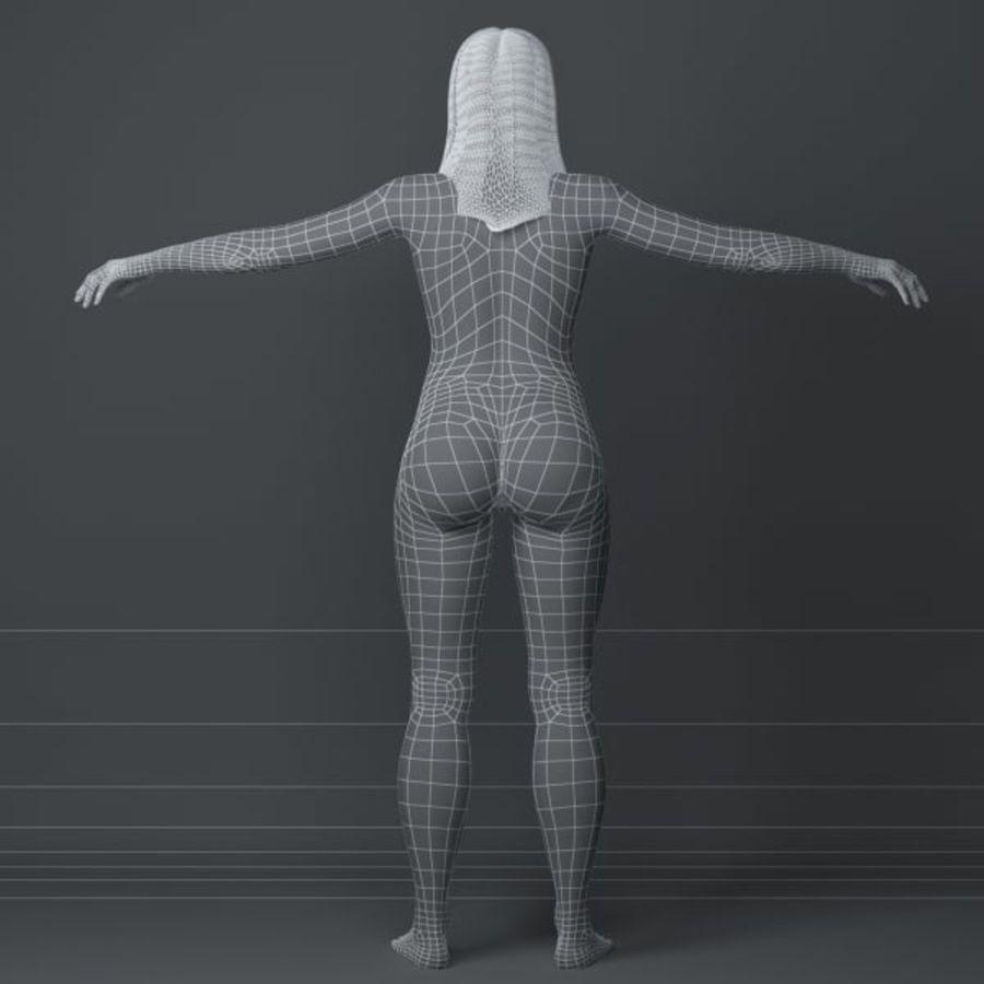Piękna kobieta 3 royalty-free 3d model - Preview no. 9