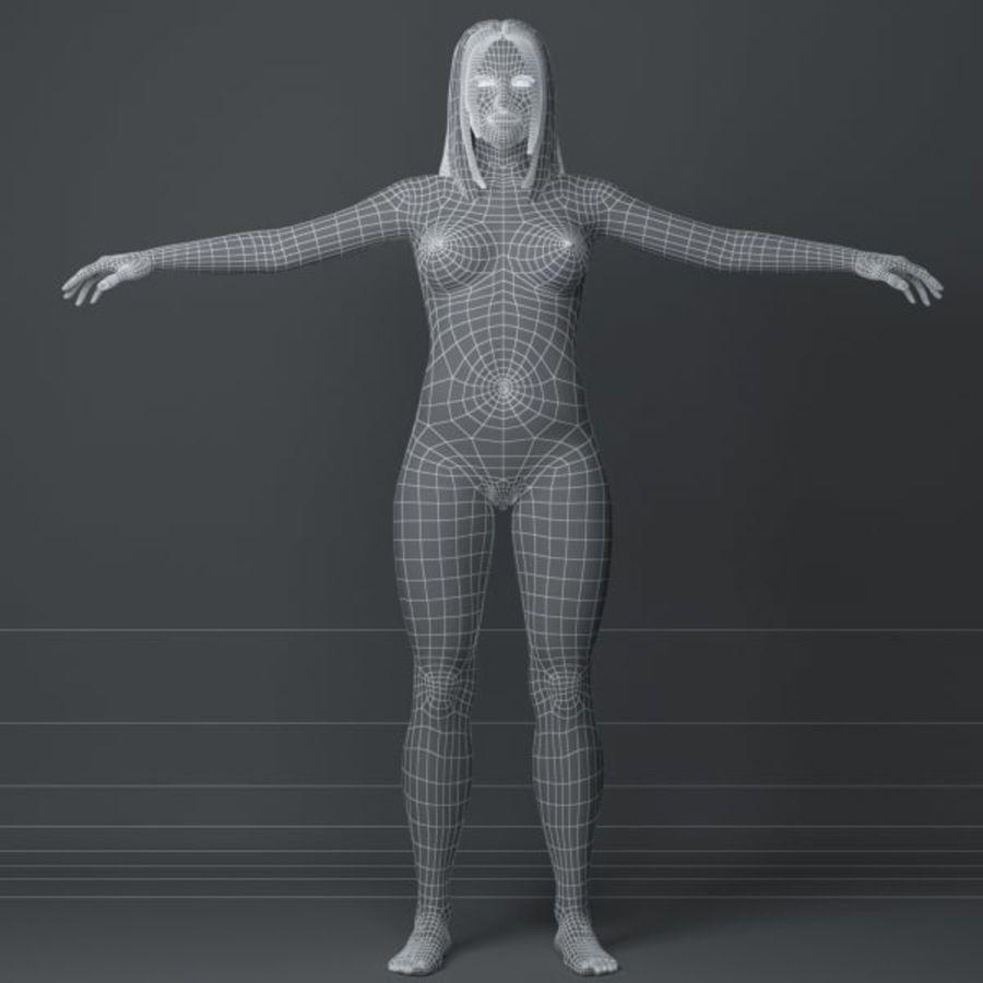 Piękna kobieta 3 royalty-free 3d model - Preview no. 8