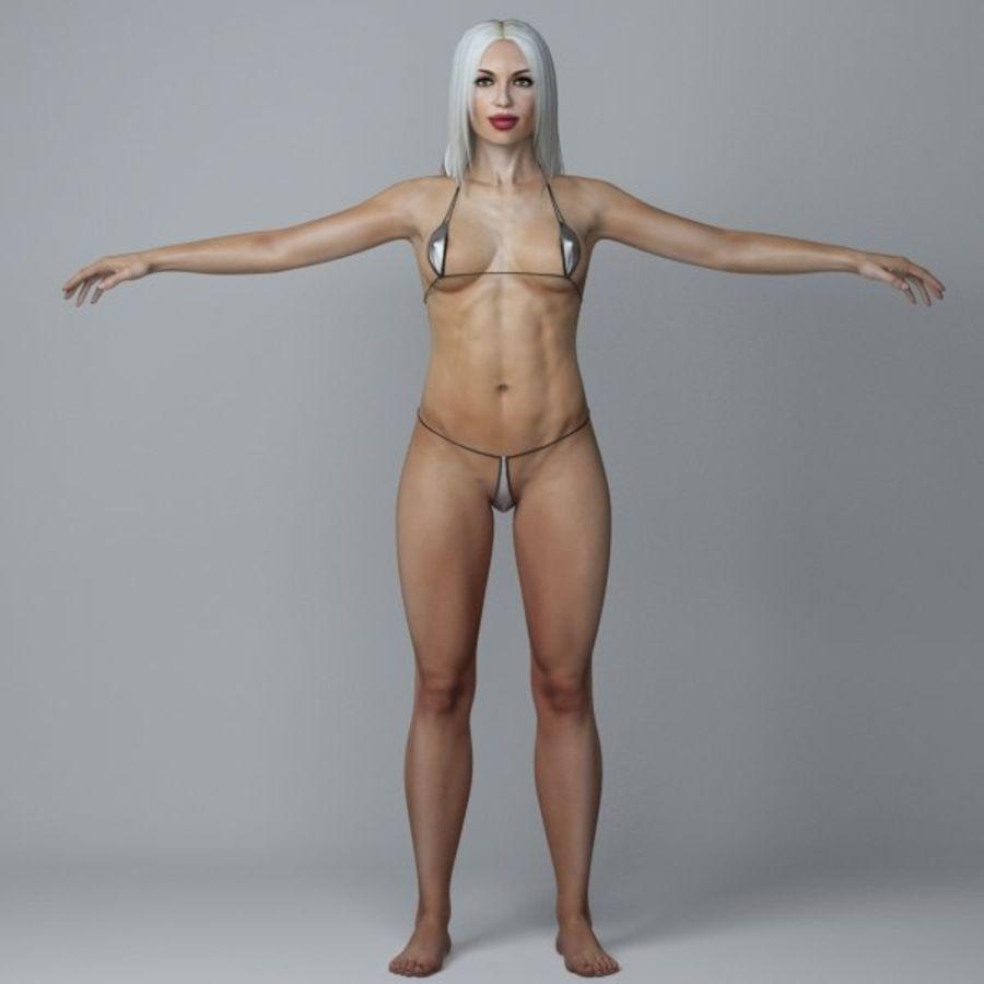 Piękna kobieta 3 royalty-free 3d model - Preview no. 1