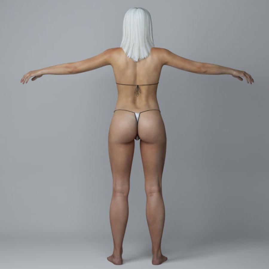 Piękna kobieta 3 royalty-free 3d model - Preview no. 4