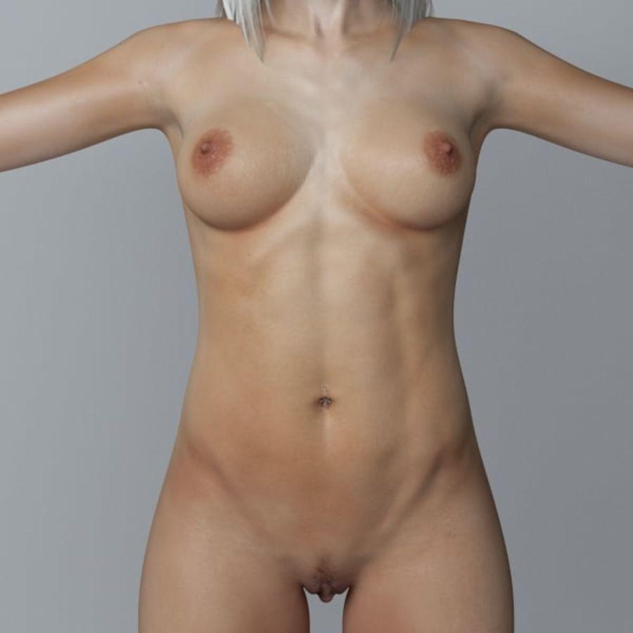 Piękna kobieta 3 royalty-free 3d model - Preview no. 7