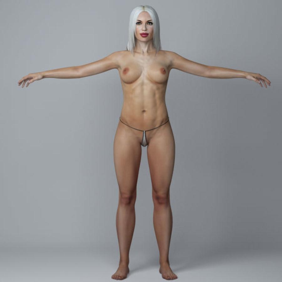 Piękna kobieta 3 royalty-free 3d model - Preview no. 3