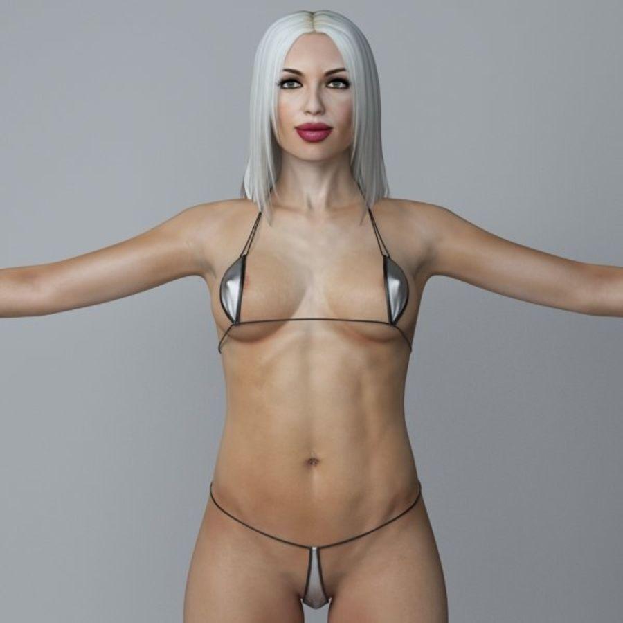 Piękna kobieta 3 royalty-free 3d model - Preview no. 2