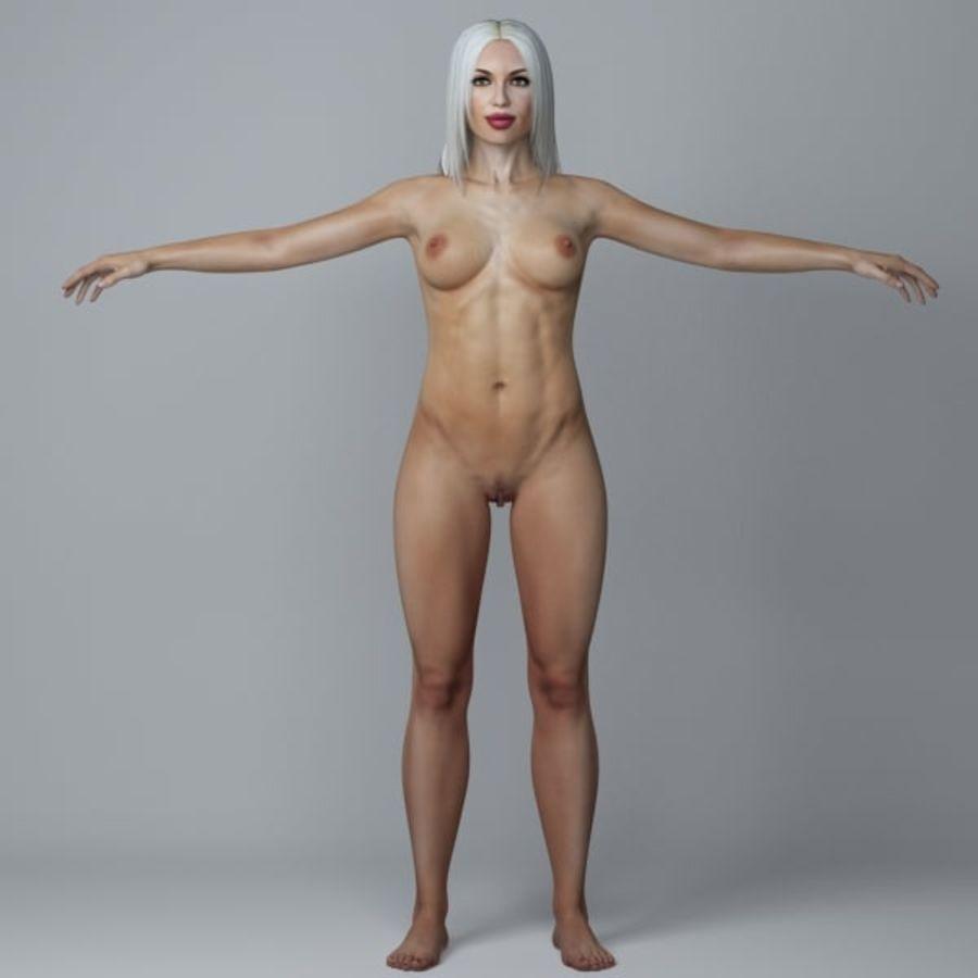 Piękna kobieta 3 royalty-free 3d model - Preview no. 5