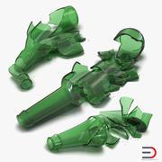 Broken Beer Bottles Collection 3d model