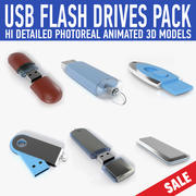 USB flash drive pack (2) 3d model