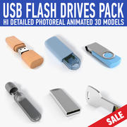 Pack lecteur flash USB 3d model