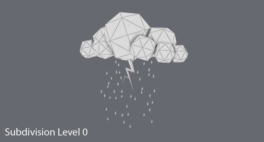 Low Cloud Cloud Pack royalty-free modelo 3d - Preview no. 11