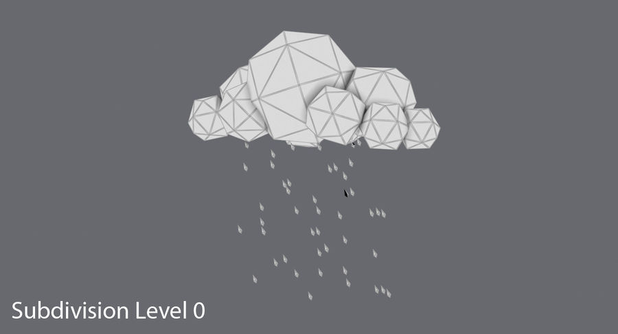Low Cloud Cloud Pack royalty-free modelo 3d - Preview no. 16