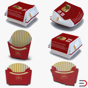 Food Containers 3D Models Collection 2 3d model