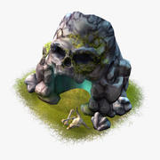 Cartoon Skull Cave 3d model