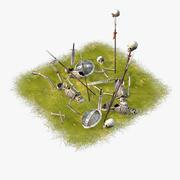漫画の戦場 3d model