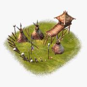 Cartoon Battle Camp 3d model