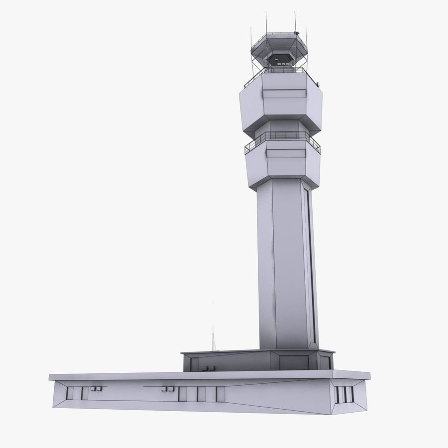 Airport Tower royalty-free 3d model - Preview no. 12