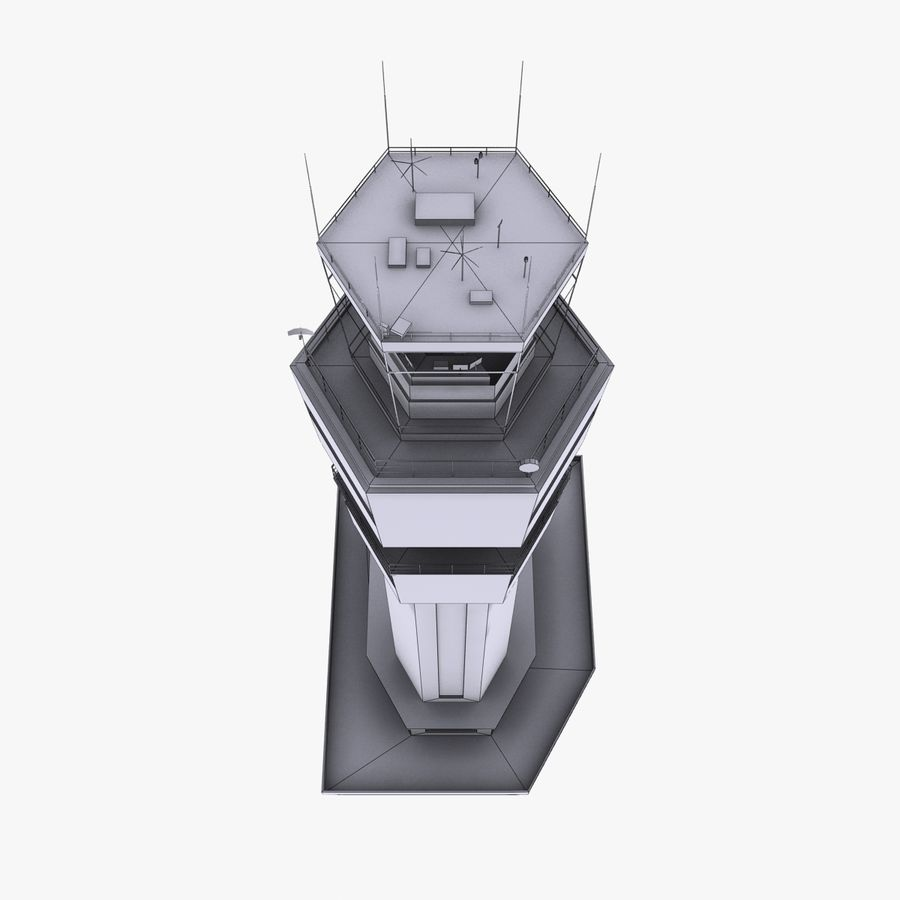 Airport Tower royalty-free 3d model - Preview no. 10