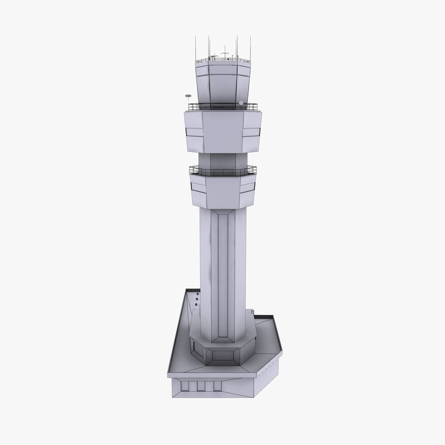 Airport Tower royalty-free 3d model - Preview no. 8