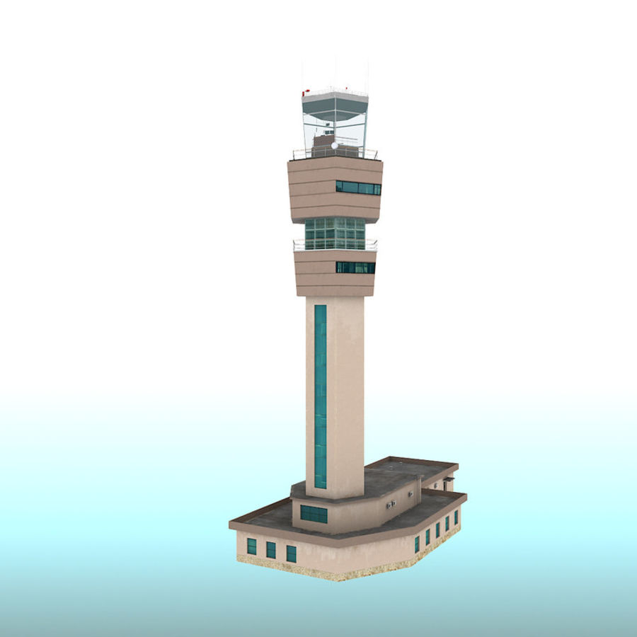 Airport Tower royalty-free 3d model - Preview no. 2