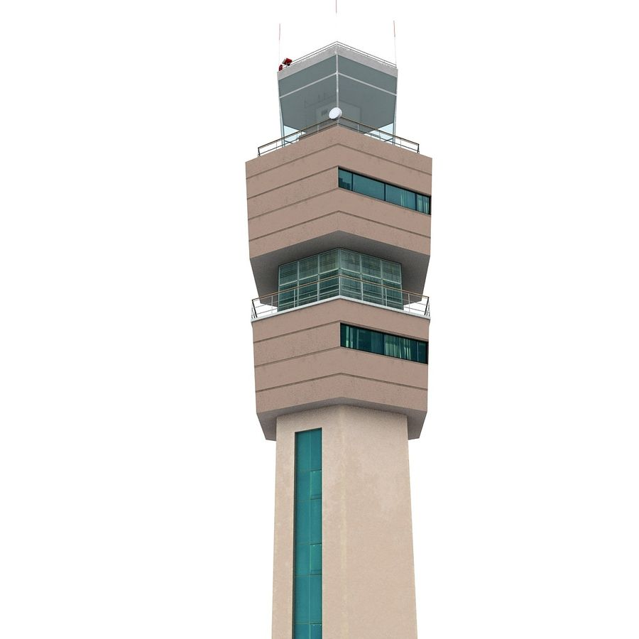 Airport Tower royalty-free 3d model - Preview no. 4