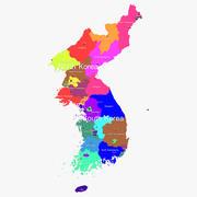 Korea kaart 3d model
