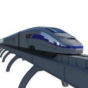 現代の列車 3d model