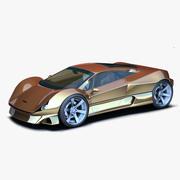 Concepto de oro modelo 3d