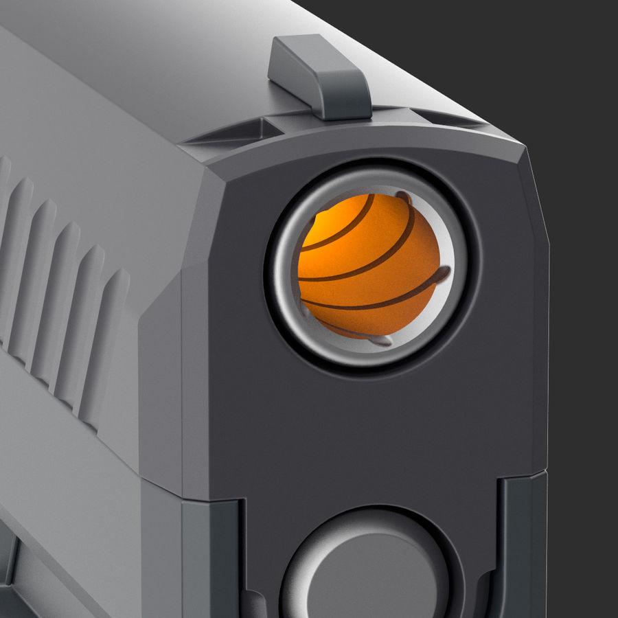 Pistola royalty-free modelo 3d - Preview no. 9