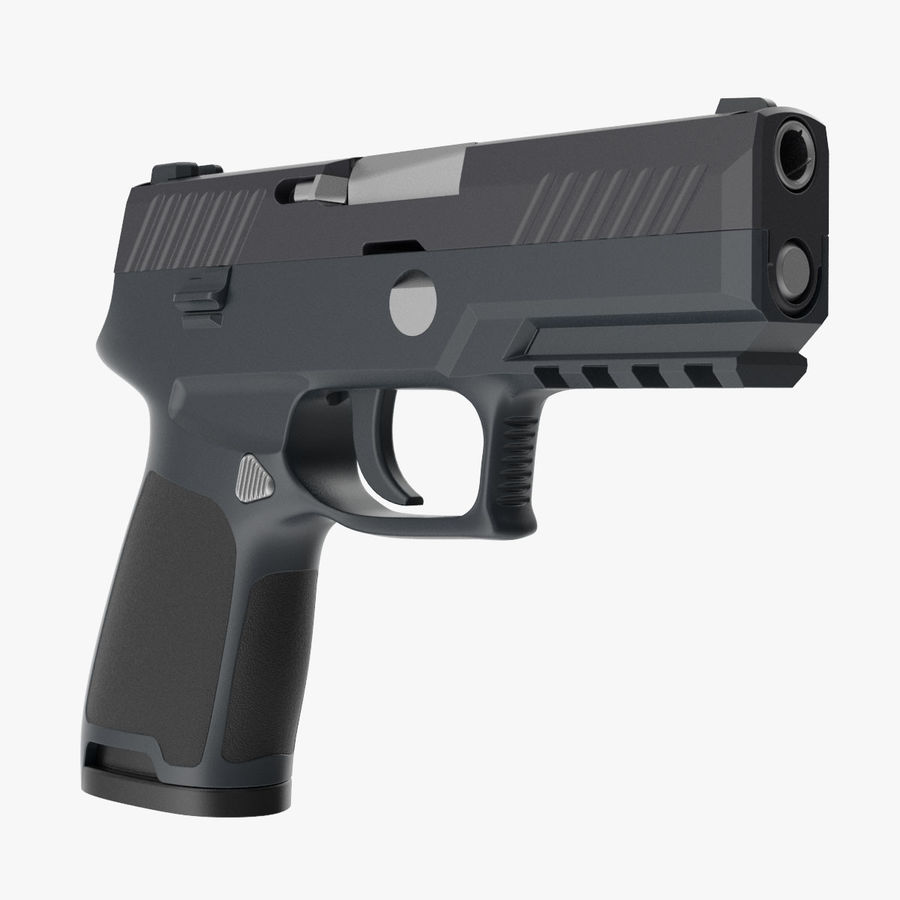 Pistola royalty-free modelo 3d - Preview no. 1