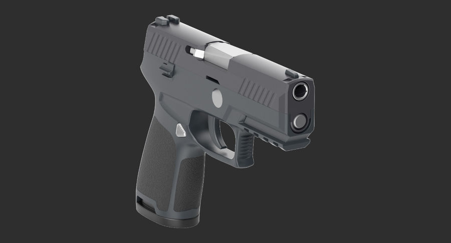 Pistola royalty-free modelo 3d - Preview no. 4