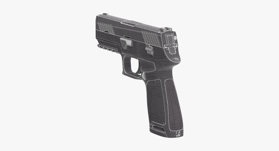Pistola royalty-free modelo 3d - Preview no. 14