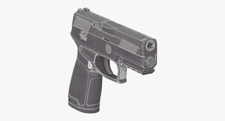 Pistola royalty-free modelo 3d - Preview no. 11