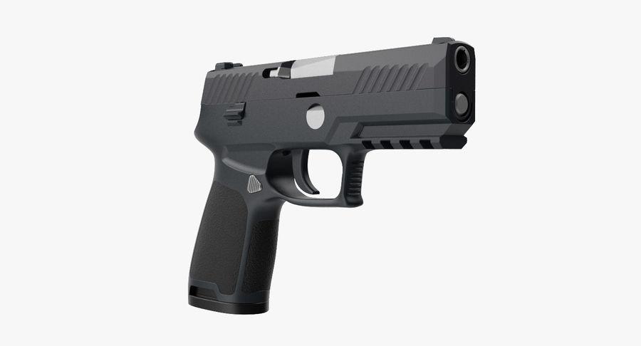 Pistola royalty-free modelo 3d - Preview no. 2