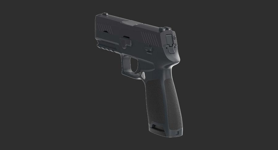 Pistola royalty-free modelo 3d - Preview no. 6