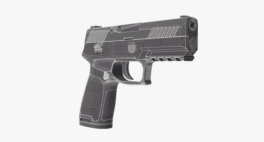 Pistola royalty-free modelo 3d - Preview no. 10