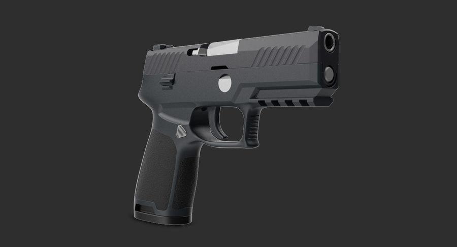 Pistola royalty-free modelo 3d - Preview no. 3