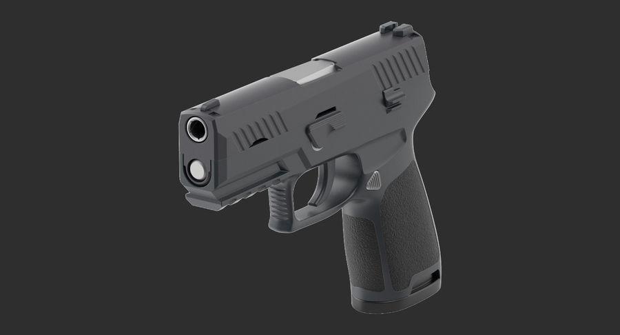 Pistola royalty-free modelo 3d - Preview no. 5